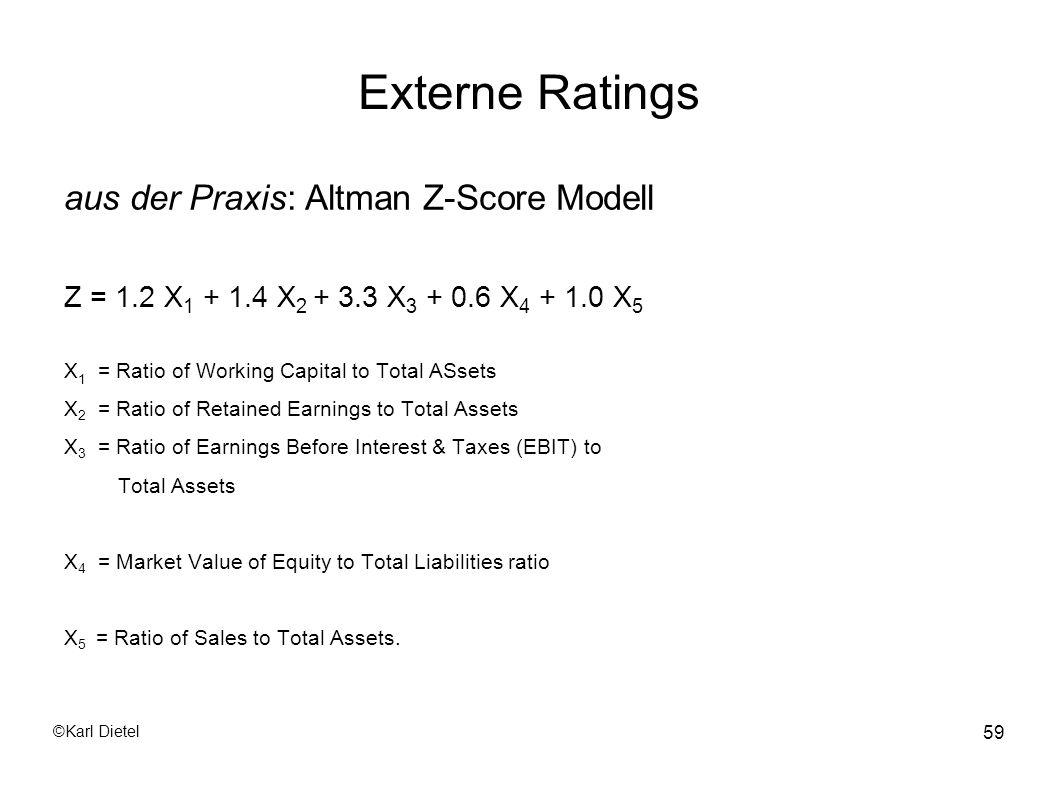 Externe Ratings aus der Praxis: Altman Z-Score Modell