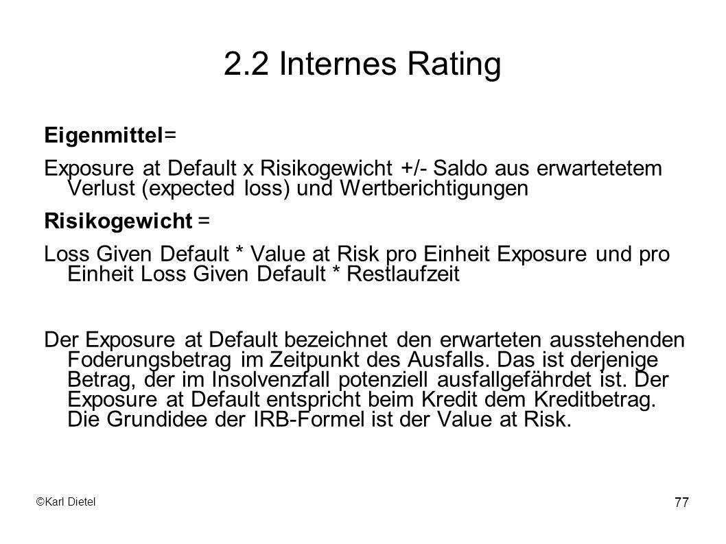 2.2 Internes Rating Eigenmittel=
