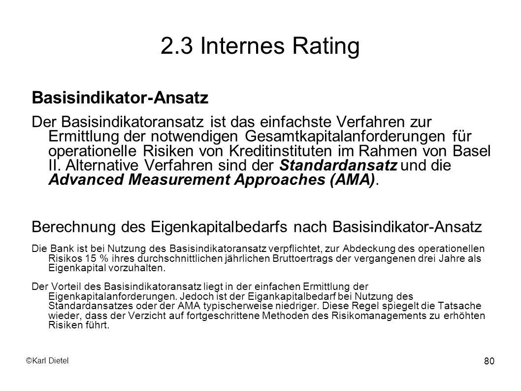 2.3 Internes Rating Basisindikator-Ansatz