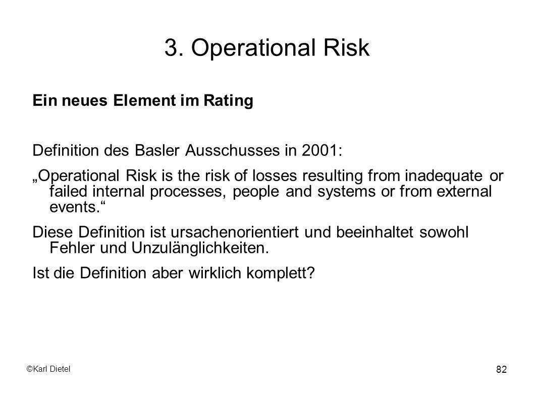3. Operational Risk Ein neues Element im Rating