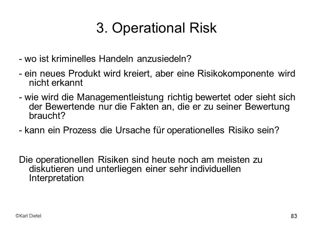 3. Operational Risk - wo ist kriminelles Handeln anzusiedeln