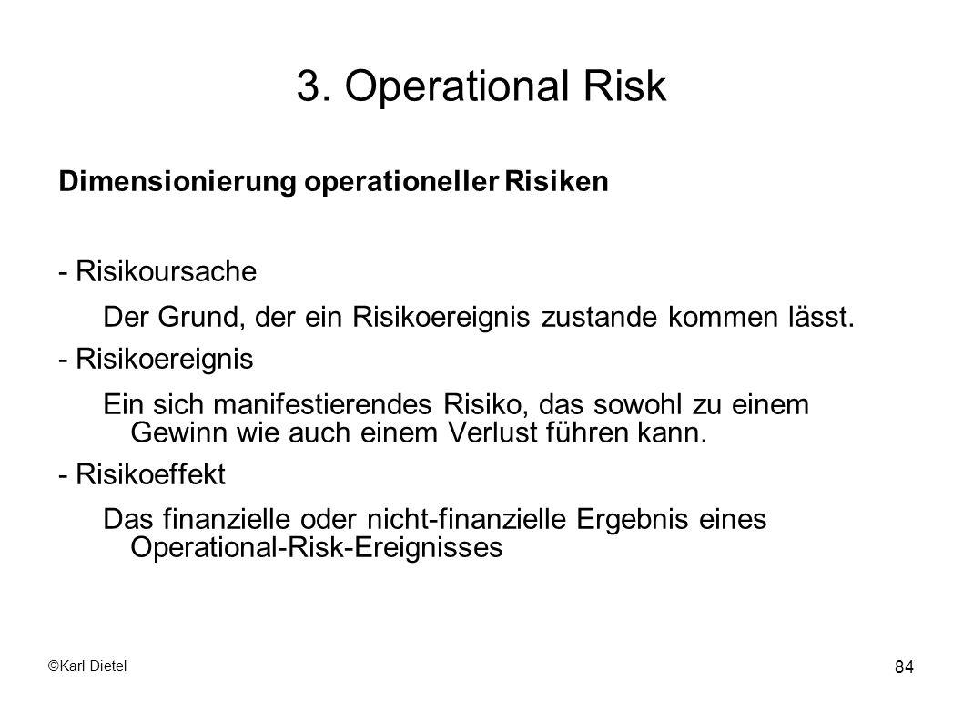 3. Operational Risk Dimensionierung operationeller Risiken