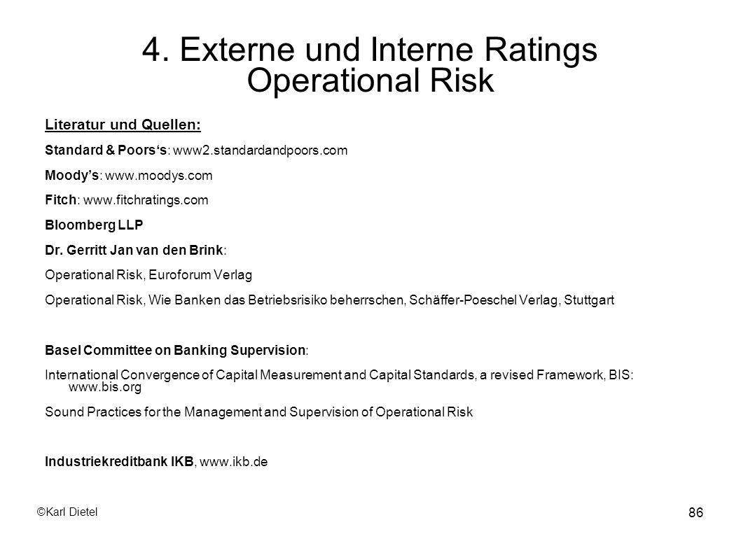 4. Externe und Interne Ratings Operational Risk