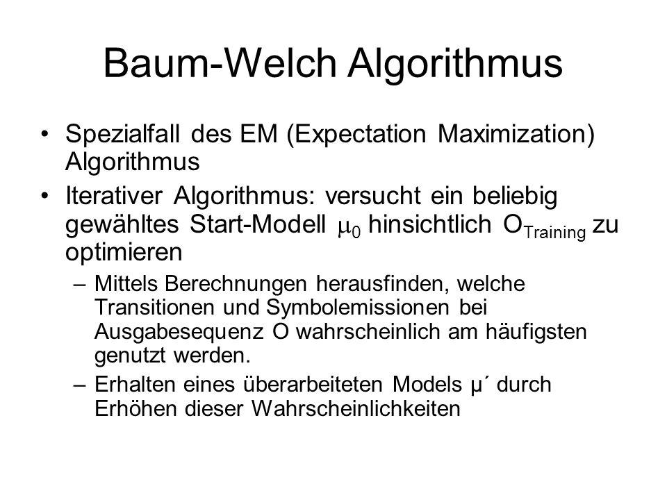 Baum-Welch Algorithmus