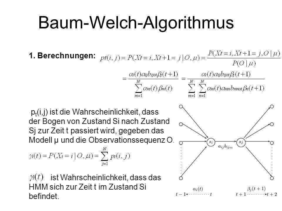 Baum-Welch-Algorithmus