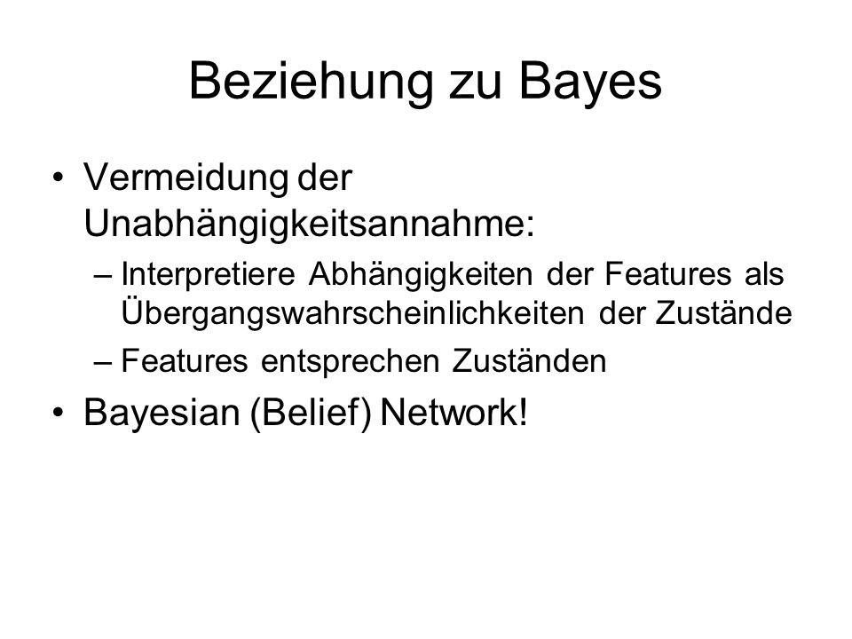 Beziehung zu Bayes Vermeidung der Unabhängigkeitsannahme: