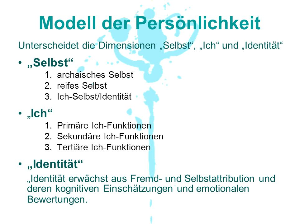 Modell der Persönlichkeit