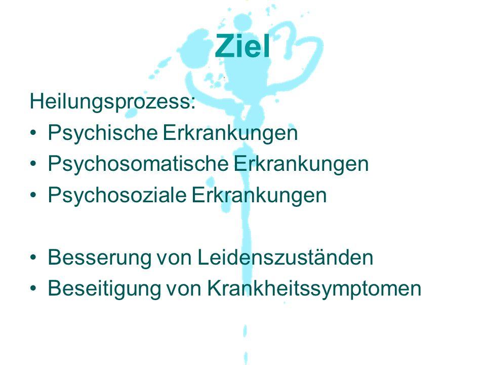 Ziel Heilungsprozess: Psychische Erkrankungen