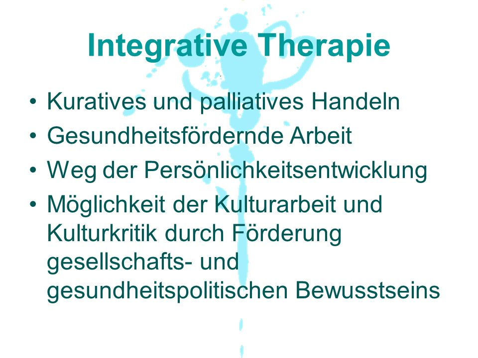 Integrative Therapie Kuratives und palliatives Handeln