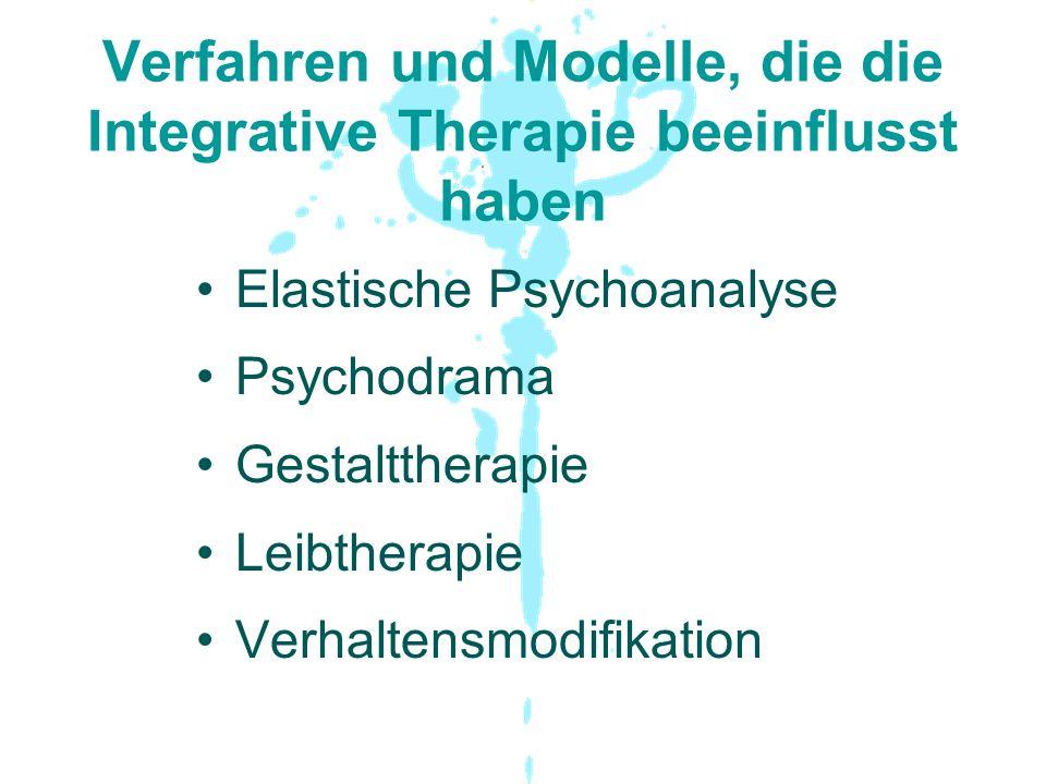 Verfahren und Modelle, die die Integrative Therapie beeinflusst haben