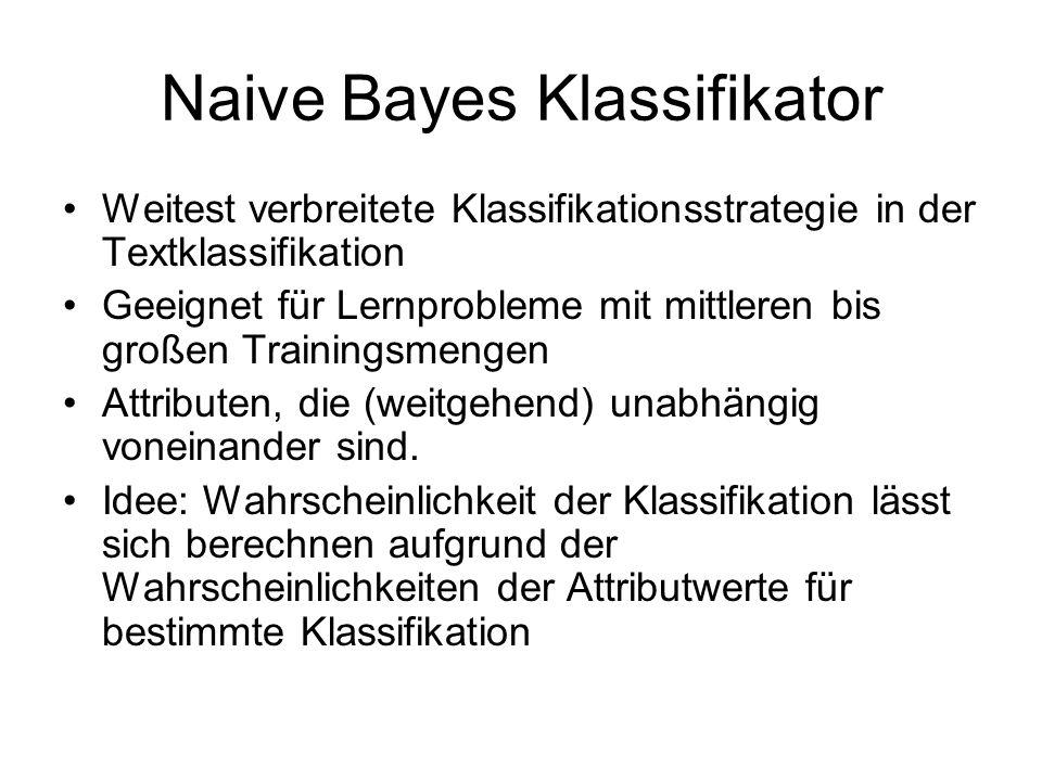 Naive Bayes Klassifikator
