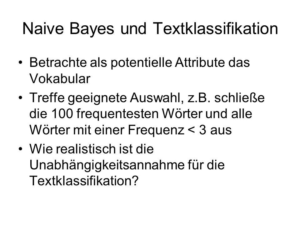 Naive Bayes und Textklassifikation