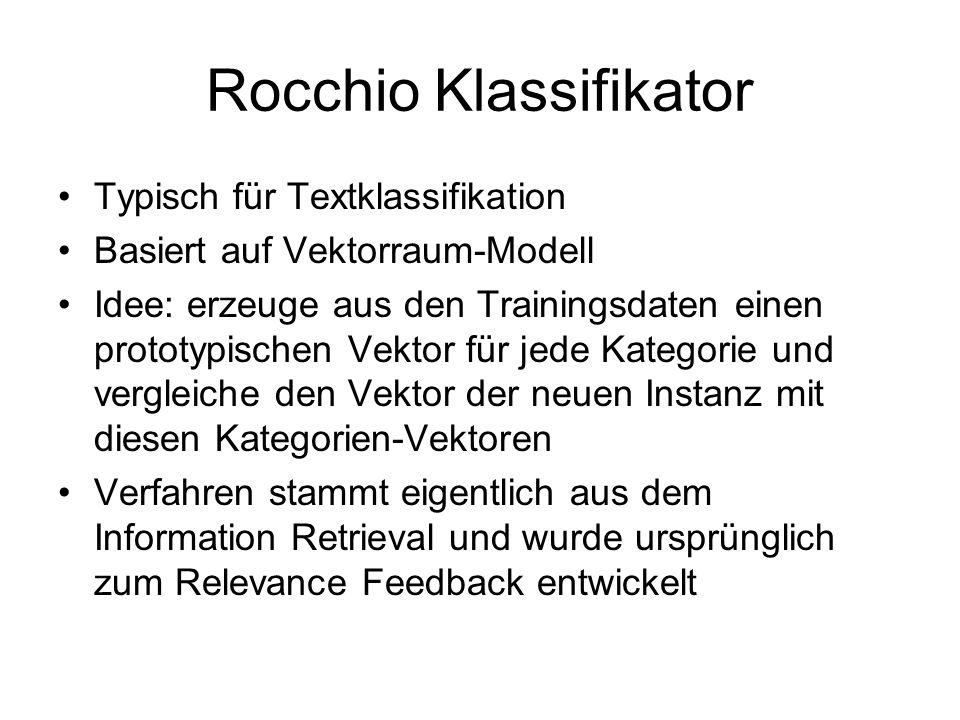 Rocchio Klassifikator