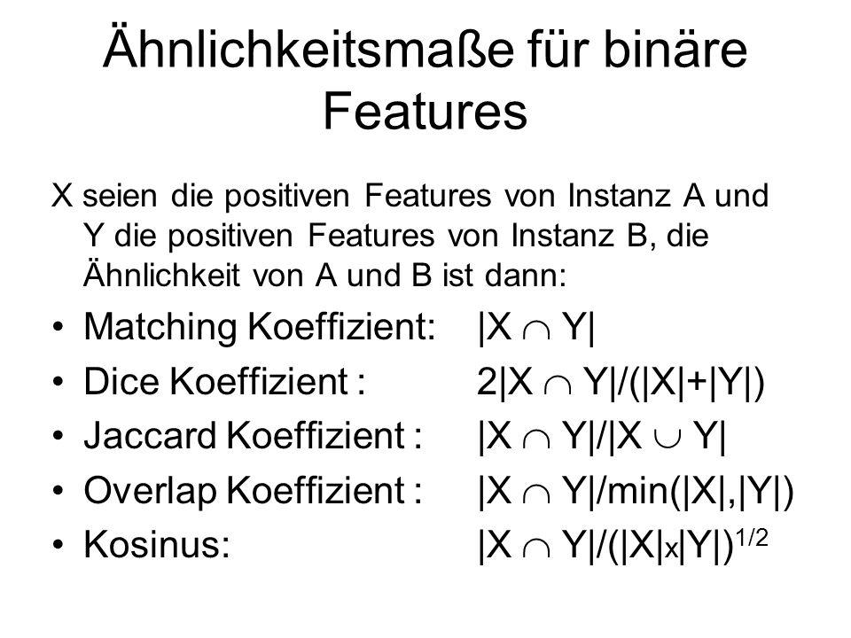 Ähnlichkeitsmaße für binäre Features