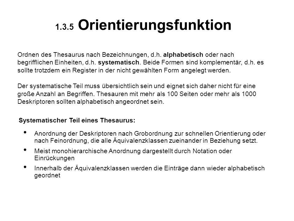1.3.5 Orientierungsfunktion