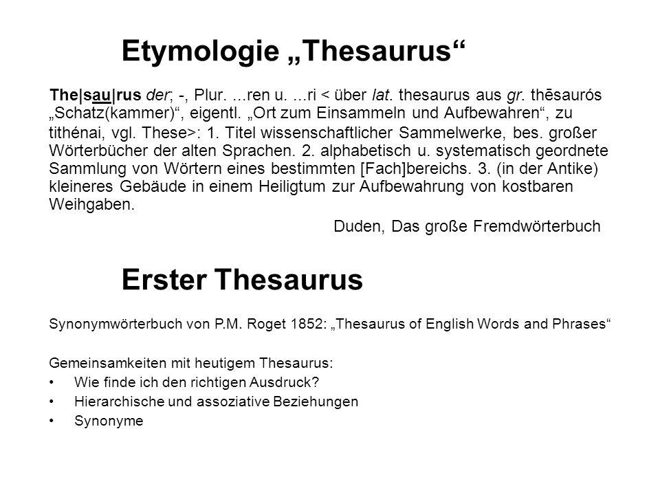 """Etymologie """"Thesaurus"""