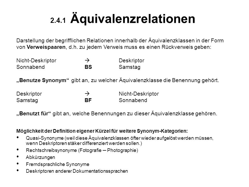 2.4.1 Äquivalenzrelationen
