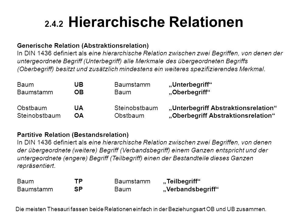 2.4.2 Hierarchische Relationen