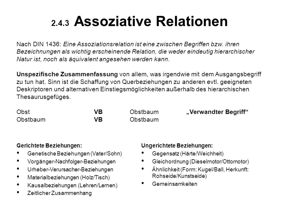 2.4.3 Assoziative Relationen