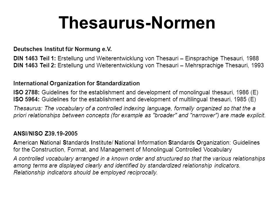 Thesaurus-Normen Deutsches Institut für Normung e.V.