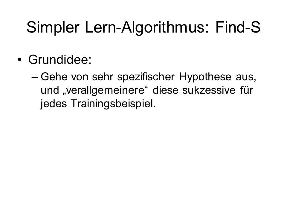 Simpler Lern-Algorithmus: Find-S