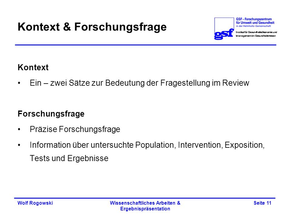 Kontext & Forschungsfrage