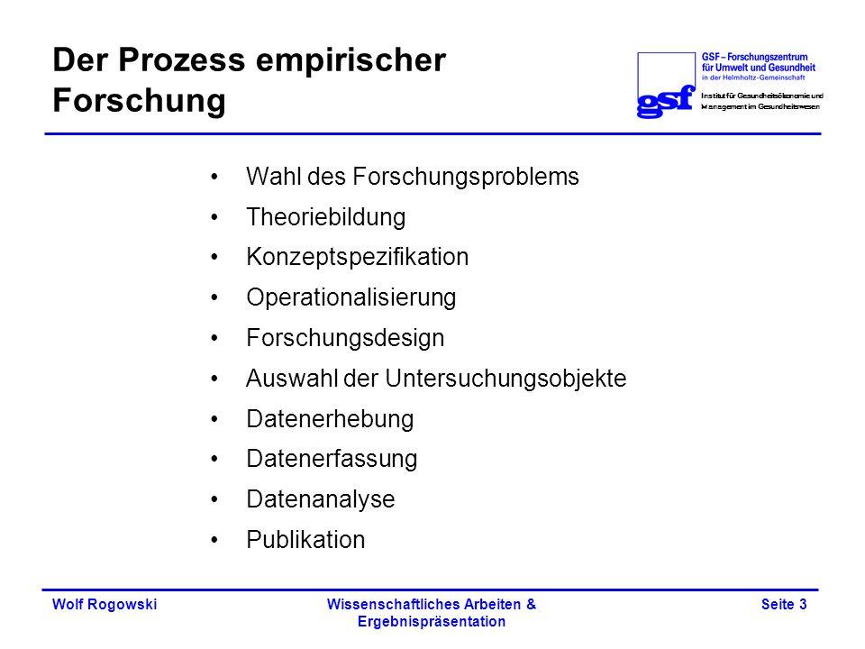 Der Prozess empirischer Forschung
