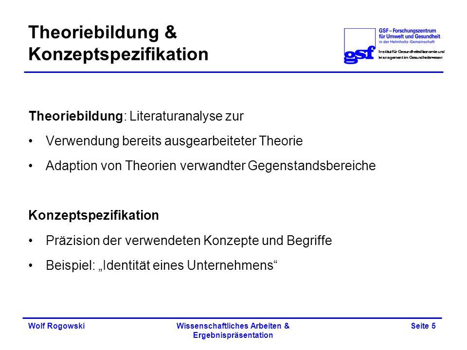 Theoriebildung & Konzeptspezifikation