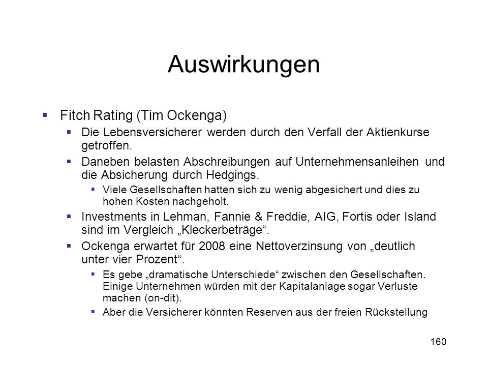 Auswirkungen Fitch Rating (Tim Ockenga)