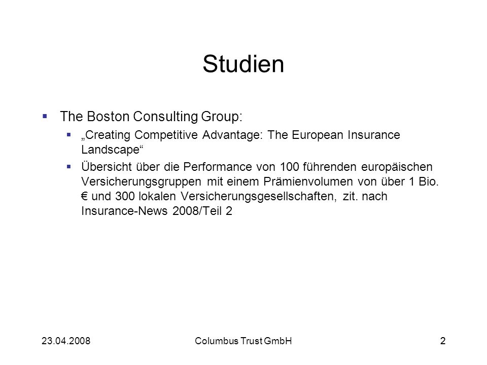 Studien The Boston Consulting Group: