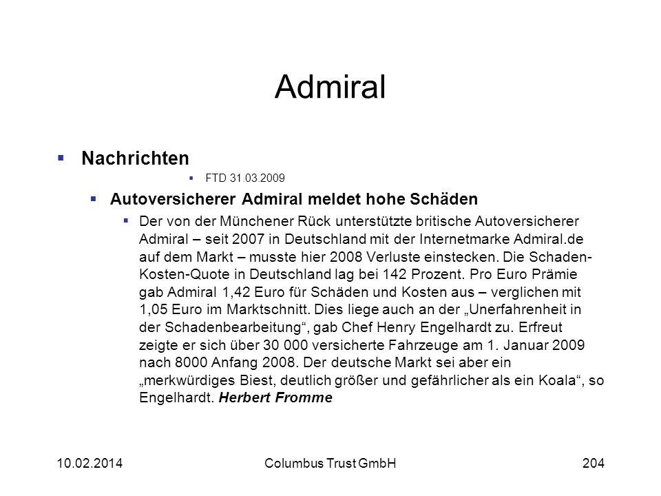 Admiral Nachrichten Autoversicherer Admiral meldet hohe Schäden