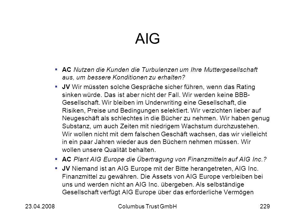 AIG AC Nutzen die Kunden die Turbulenzen um Ihre Muttergesellschaft aus, um bessere Konditionen zu erhalten