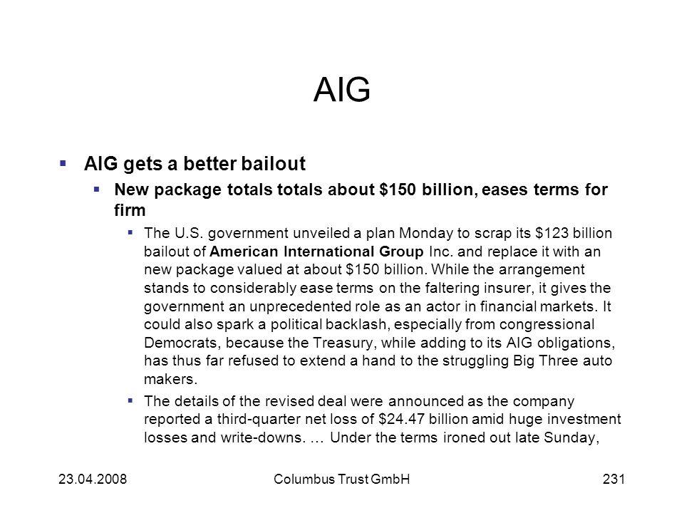 AIG AIG gets a better bailout