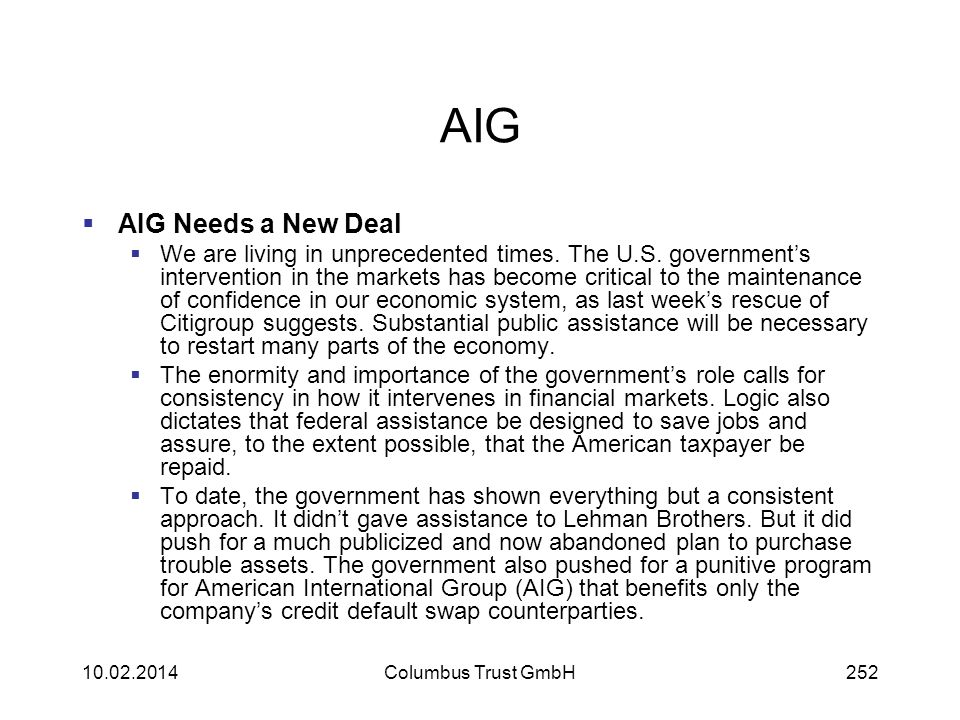 AIG AIG Needs a New Deal.