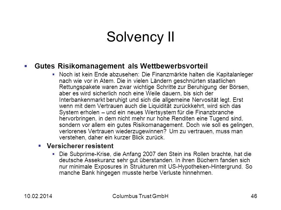 Solvency II Gutes Risikomanagement als Wettbewerbsvorteil