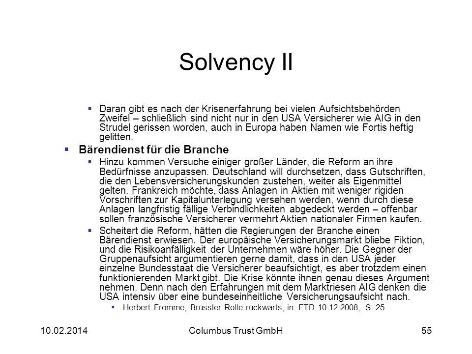 Solvency II Bärendienst für die Branche