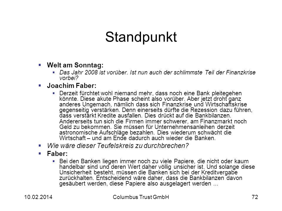 Standpunkt Welt am Sonntag: Joachim Faber: