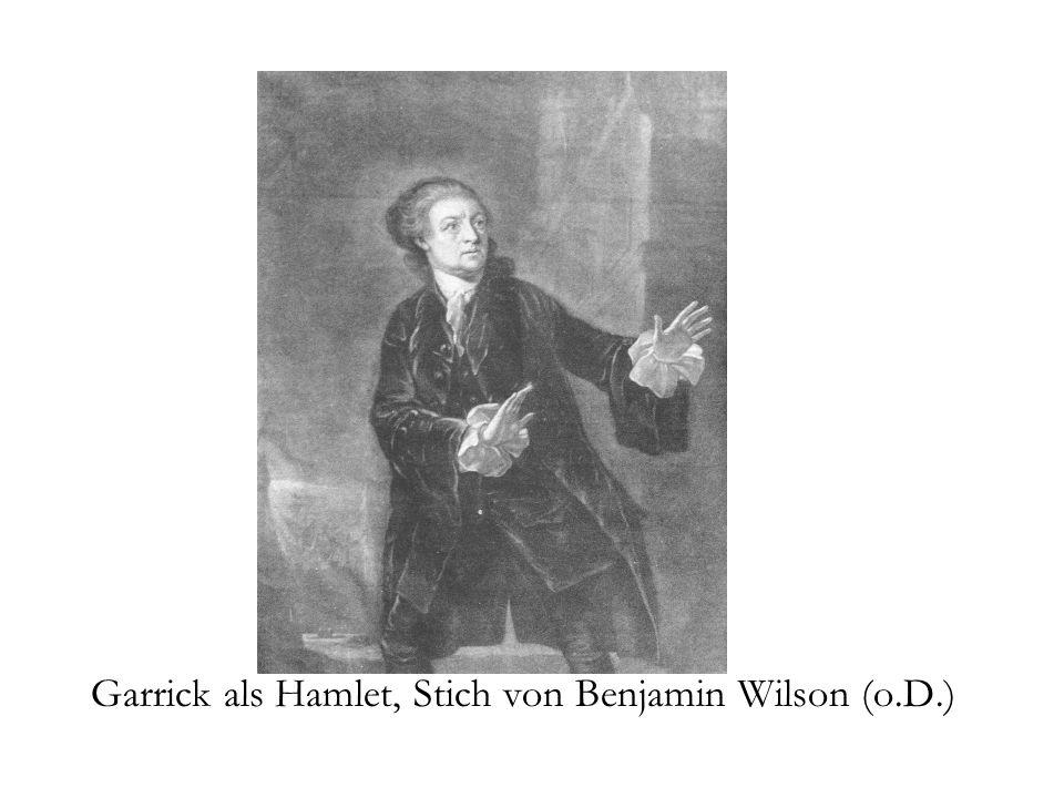 Garrick als Hamlet, Stich von Benjamin Wilson (o.D.)