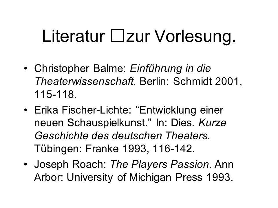 Literatur zur Vorlesung.