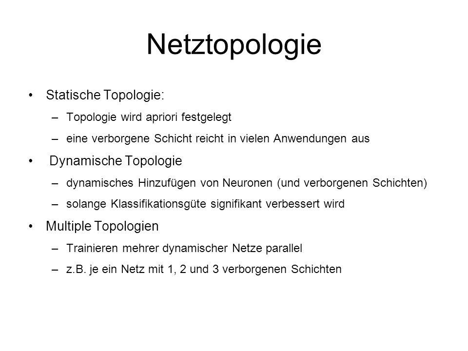 Netztopologie Statische Topologie: Dynamische Topologie