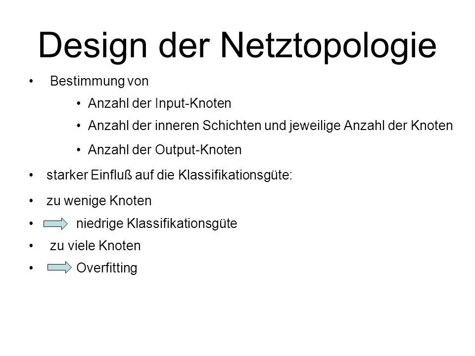 Design der Netztopologie
