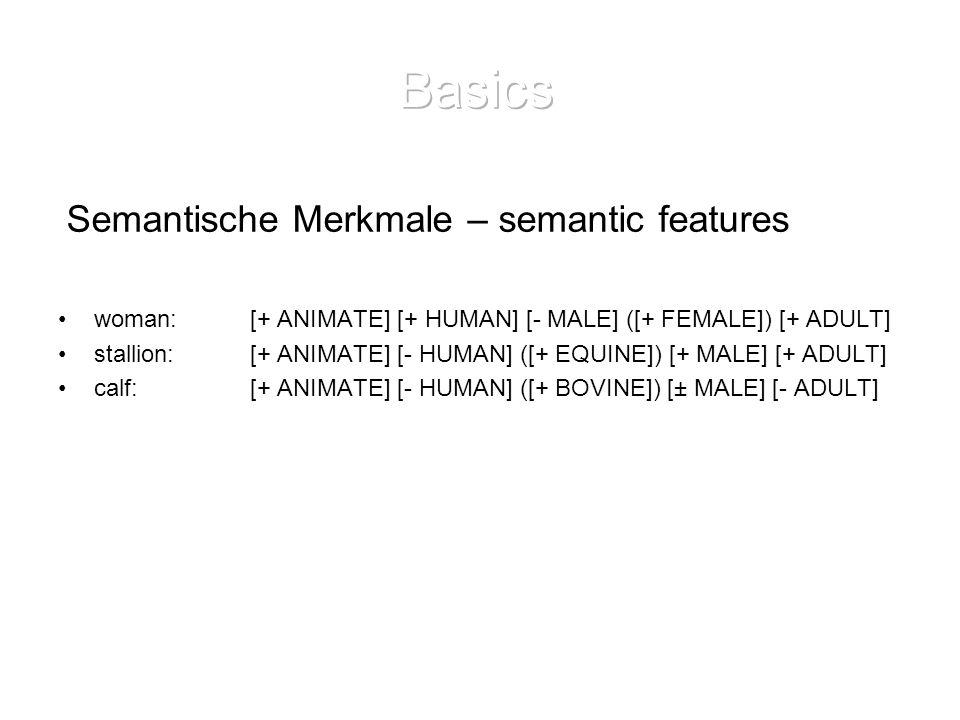 Basics Semantische Merkmale – semantic features