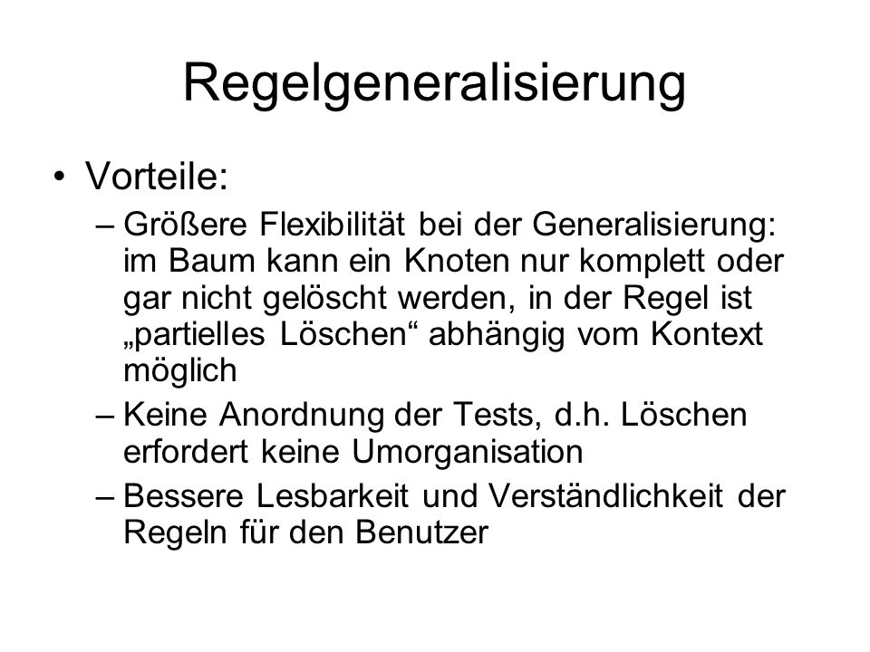 Regelgeneralisierung