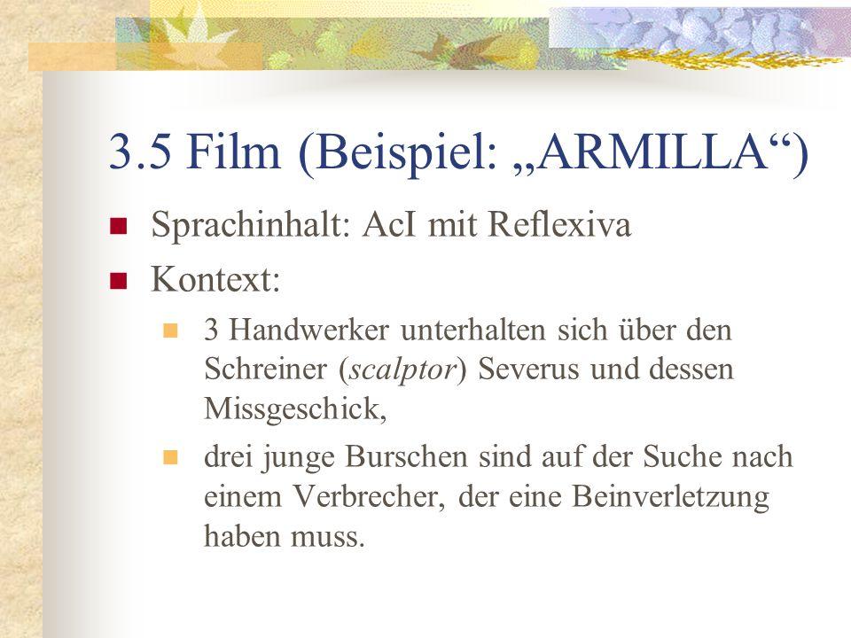 """3.5 Film (Beispiel: """"ARMILLA )"""