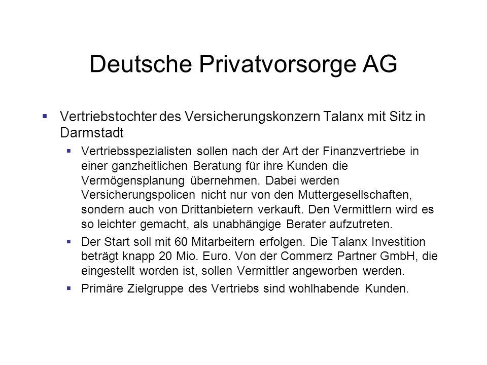 Deutsche Privatvorsorge AG