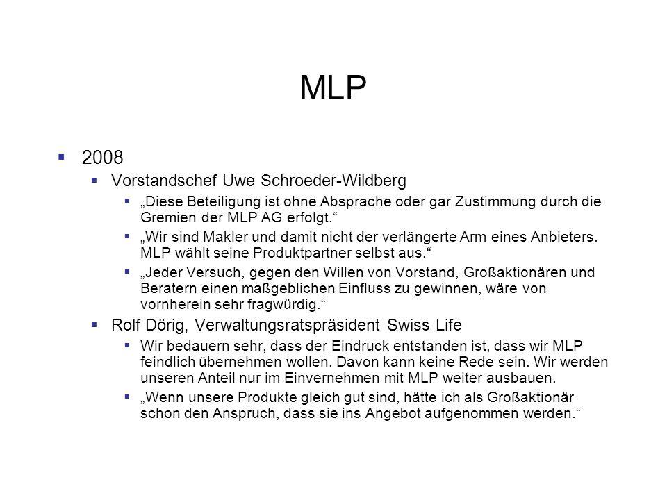 MLP 2008 Vorstandschef Uwe Schroeder-Wildberg