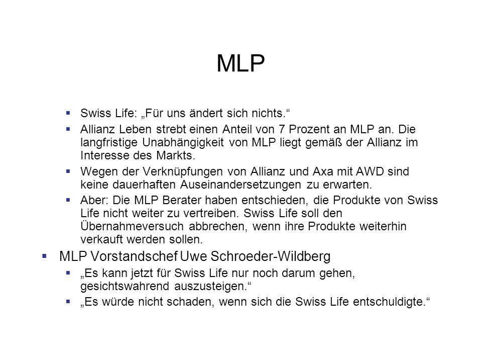 MLP MLP Vorstandschef Uwe Schroeder-Wildberg