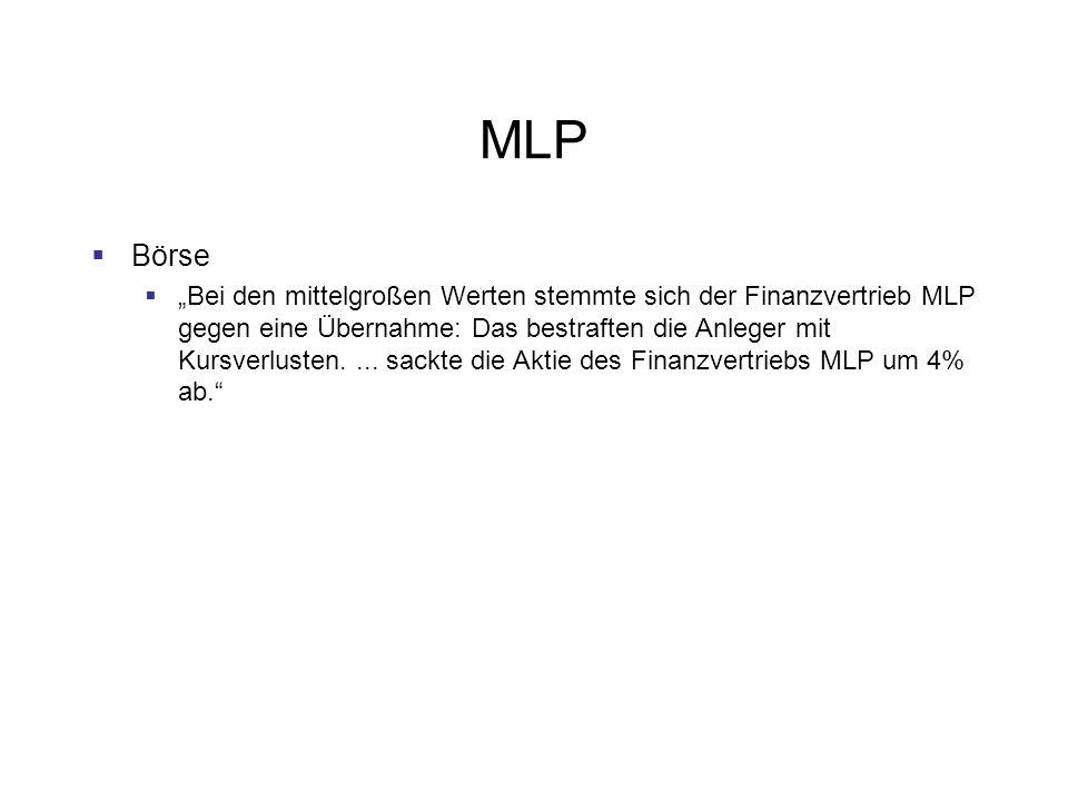 MLP Börse.