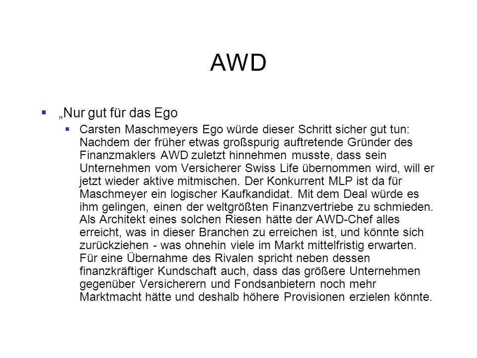 """AWD """"Nur gut für das Ego."""