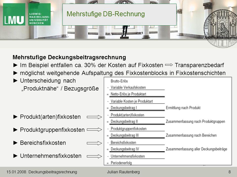 Mehrstufige DB-Rechnung